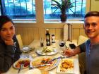 Happy customers enjoying dinner at Brusko Authentic Greek Cuisine - Schaumburg