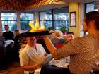 Flaming Saganaki at Brousko Authentic Greek Cuisine - Schaumburg