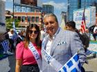 Grand Marshall and Guest at Greek Independence Day Parade, Chicago