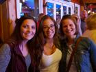 Happy participants at Bella Cain show - Niko's Red Mill Tavern in Woodstock