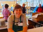Hard working volunteer - Oak Lawn Greek Fest at St. Nicholas
