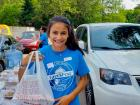 Hard working drive-thru volunteer - St. Nectarios Greekfest, Palatine