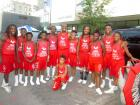The Jesse White Tumblers following their performance at Taste of Greektown in Chicago