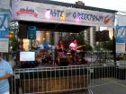 The band stage at Taste of Greektown in Chicago