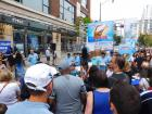 Gyros eating contest, Taste of Greektown in Chicago