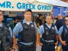 Chicago Police Officers - Taste of Greek Town in Chicago