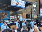 Gyros eating contest - Taste of Greek Town in Chicago