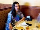 Customer enjoying lunch at Annie's Pancake House in Skokie