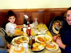 Family enjoying breakfast at Annie's Pancake House in Skokie