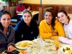 Friends enjoying breakfast at Annie's Pancake House in Skokie