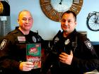 Police officers enjoying lunch at Billy Boy's Restaurant in Chicago Ridge