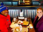 Couple enjoying lunch at Billy Boy's Restaurant in Chicago Ridge