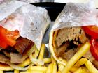 The famous gyros pita sandwiches at Billy Boy's Restaurant in Chicago Ridge