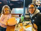Mom & daughter enjoying lunch at Billy Boy's Restaurant in Chicago Ridge