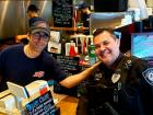 Billy himself with police officer at Billy Boy's Restaurant in Chicago Ridge