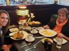 Customers enjoying dinner at Rose Garden Cafe