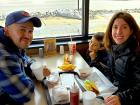Family enjoying lunch at Franksville Restaurant in Chicago