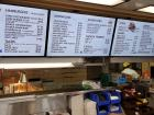 Updated menu board at Franksville Restaurant in Chicago