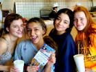 Friends enjoying lunch at Nick's Drive In Restaurant Chicago