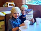 Kids enjoying ice cream at Nick's Drive In Restaurant Chicago