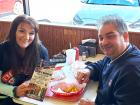 Couple enjoying lunch at Nick's Drive In Restaurant Chicago