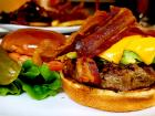 The bacon avocado burger at Rose Garden Cafe in Elk Grove Village