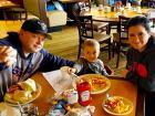 Family enjoying lunch at Tasty Waffle Restaurant in Romeoville