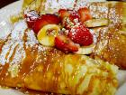 The famous fruit crepes at Tasty Waffle Restaurant in Romeoville