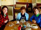 Friends enjoying lunch at Tasty Waffle Restaurant in Romeoville