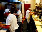 Hard working kitchen crew at Tasty Waffle Restaurant in Romeoville