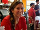 Friendly server at Teddy's Diner in Elk Grove Village