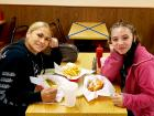 Happy customers enjoying lunch at The Works Gyros in Glenview