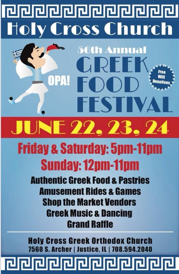 Holy Cross Greek Orthodox Church Food Festival Justice Il