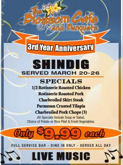 Blossom Cafe Restaurant in Norridge - 3rd Anniversary Shindig