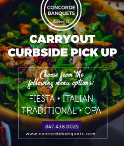 Weekend Carryout Menu at Concorde Banquets in Kildeer