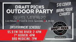 Outdoor Party at Draft Picks Sports Bar in Naperville