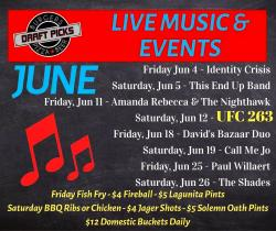 Live Music & Events in June at Draft Picks Sports Bar - Naperville