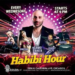 Habibi Hour at Masada in Chicago featuring Greek belly dancer Dimitra