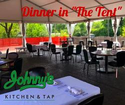 Indoor and outdoor dining at Johnny's Kitchen & Tap in Glenview