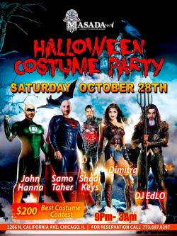 Halloween Costume Party at Masada Restaurant in Chicago