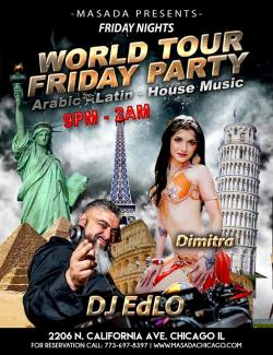 Masada Restaurant in Chicago, World Tour Friday Party with Dimitra