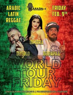 World Tour Friday Party at Masada Restaurant in Chicago