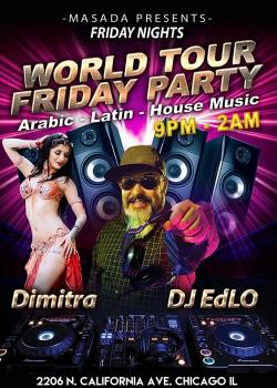 Masada Friday Party featuring Greek belly dancer Dimitra in Chicago
