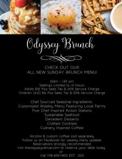 Sunday Brunch at The Odyssey Banquet Venue - Tinley Park