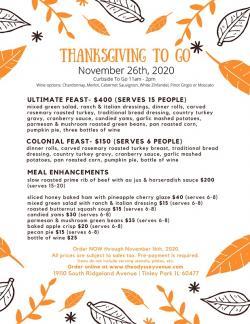 Odyssey Banquet Venue Thanksgiving To Go - Tinley Park