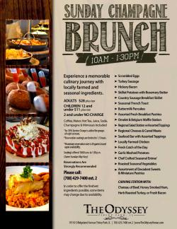 Champagne Sunday Brunch at The Odyssey - Tinley Park