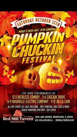 Pumpkin Chuckin Festival at Nikos Red Mill Tavern - Woodstock