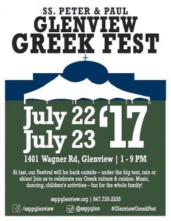 Glenview Greek Fest at SS. Peter & Paul Church