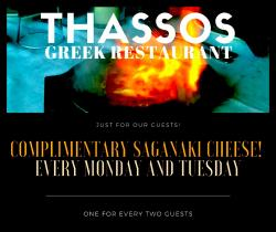 Food Specials at Thassos Greek Restaurant in Palos Hills