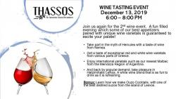 Wine Tasting at Thassos Greek Restaurant in Palos Hills